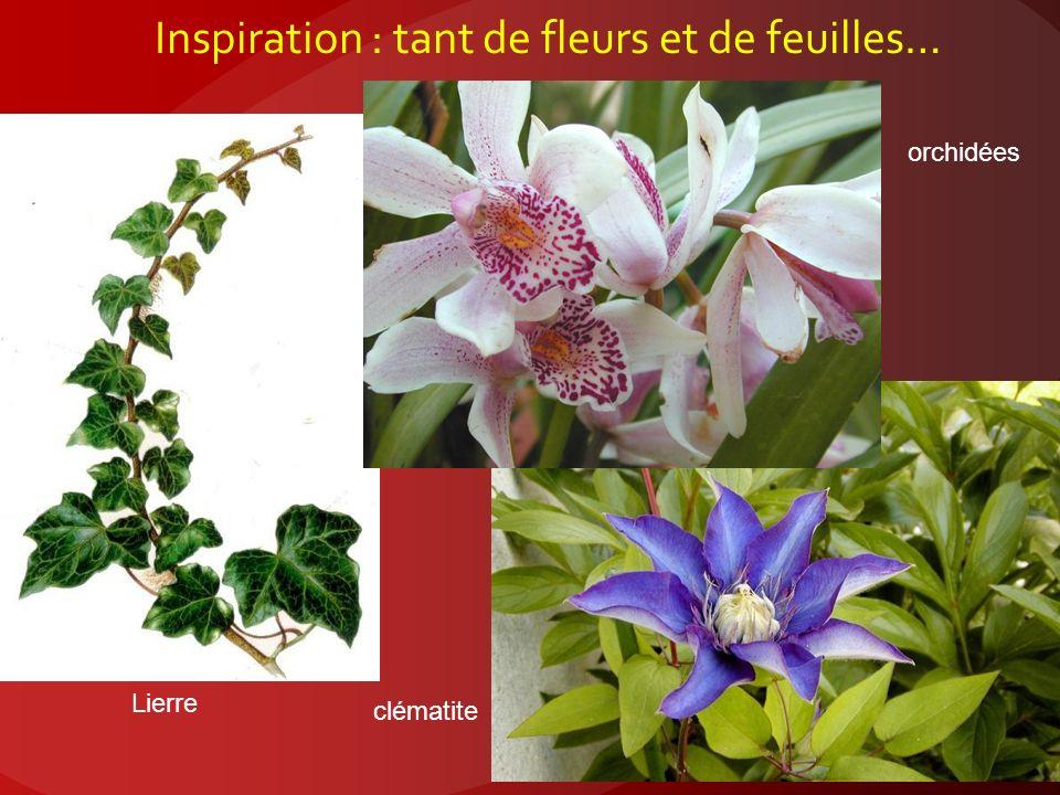 Inspiration : tant de fleurs et de feuilles…