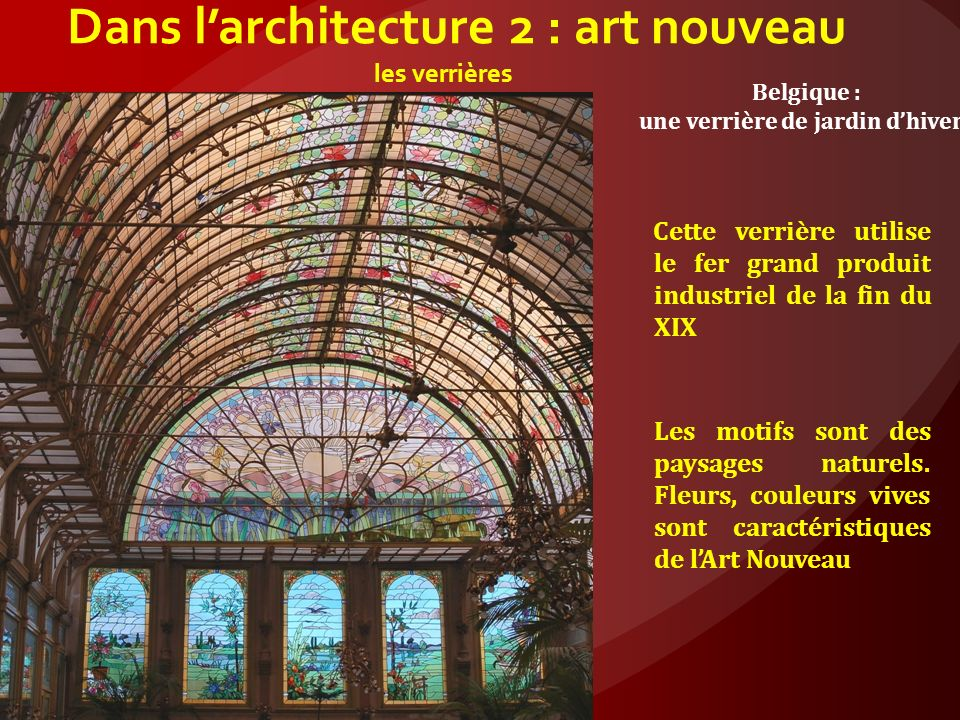 Dans l'architecture 2 : art nouveau les verrières