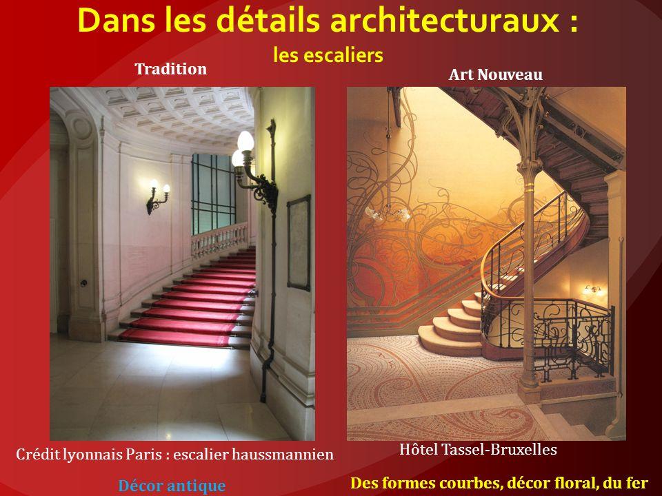 Dans les détails architecturaux : les escaliers