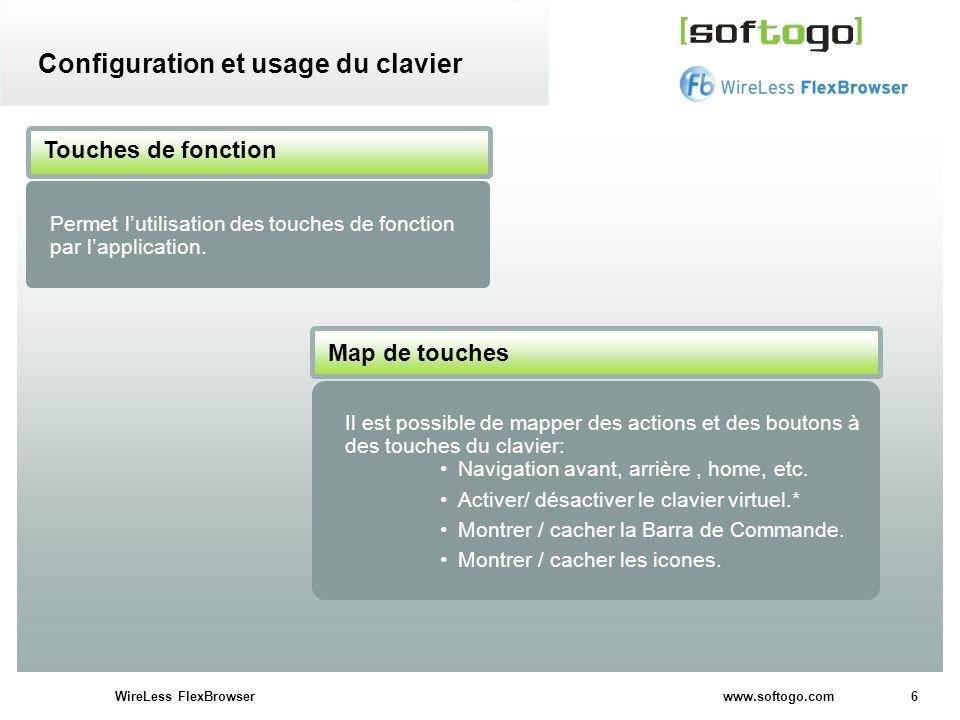 Configuration et usage du clavier
