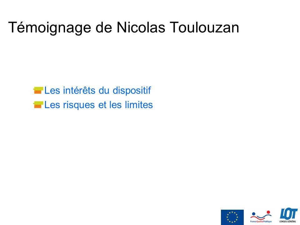 Témoignage de Nicolas Toulouzan