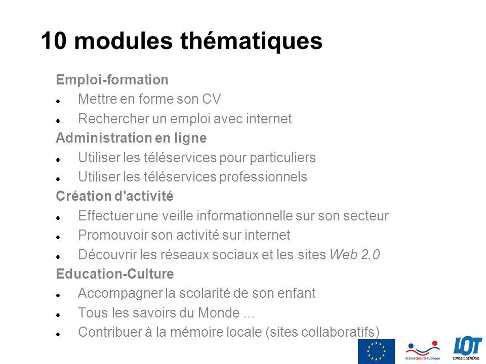 10 modules thématiques Emploi-formation Mettre en forme son CV