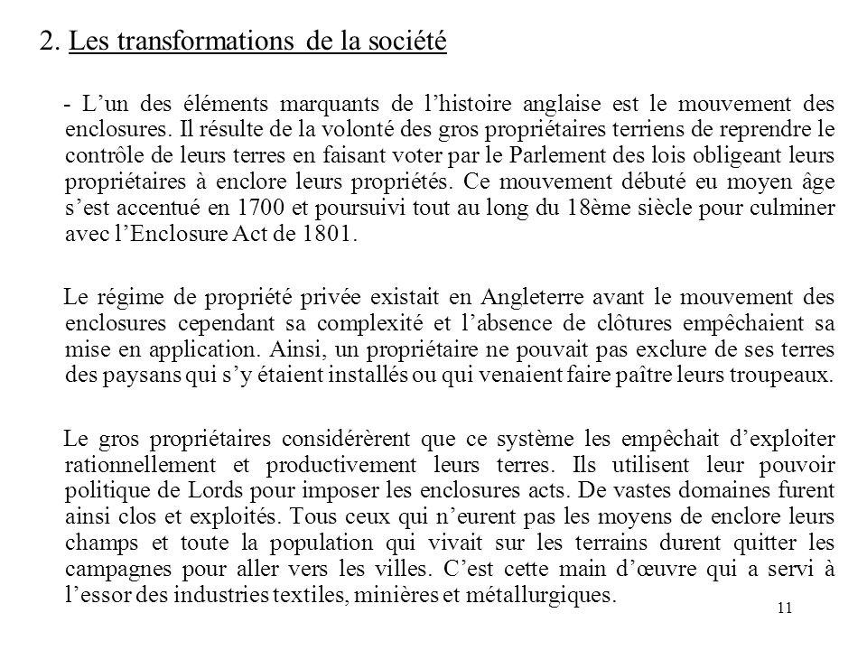 2. Les transformations de la société
