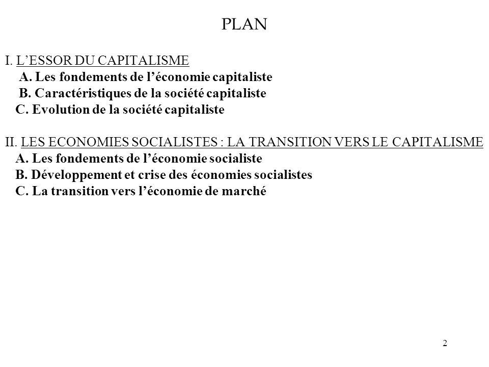 PLAN I. L'ESSOR DU CAPITALISME