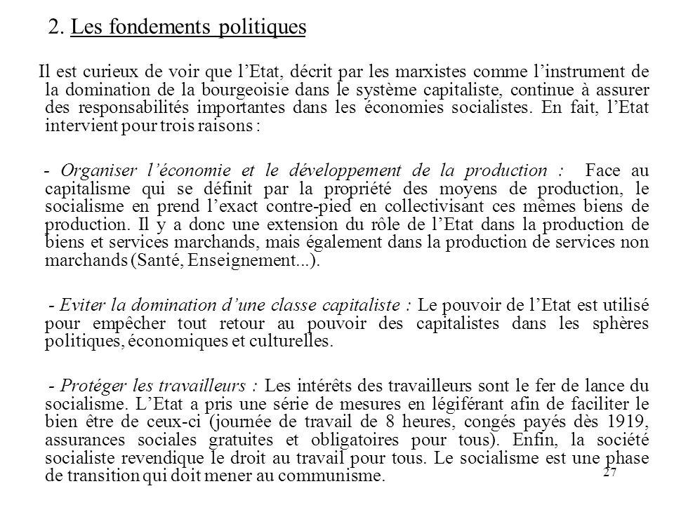 2. Les fondements politiques