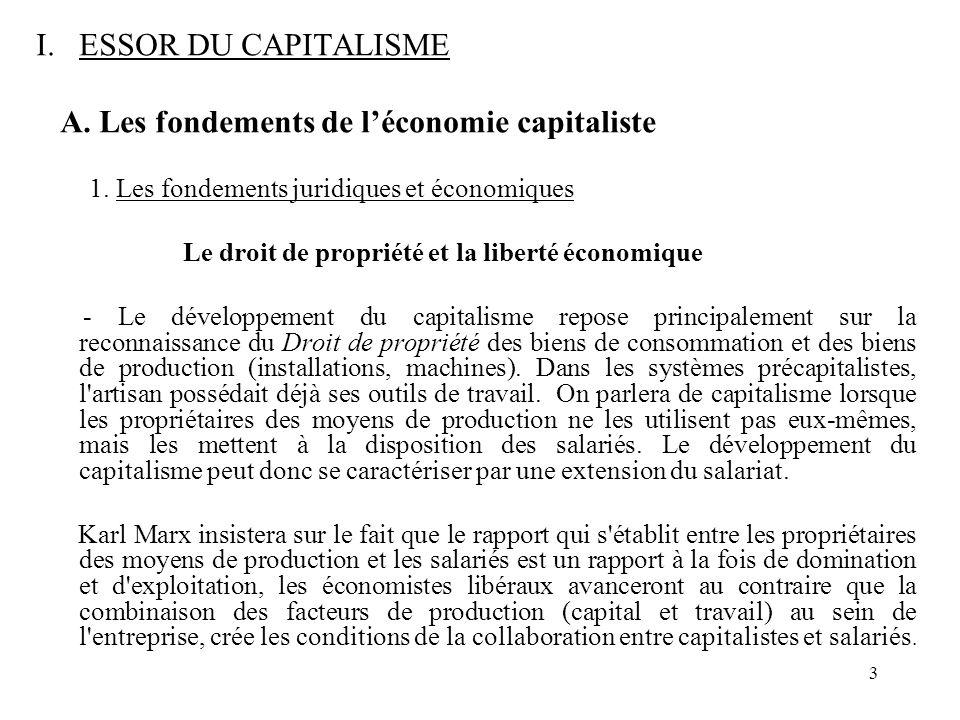 A. Les fondements de l'économie capitaliste