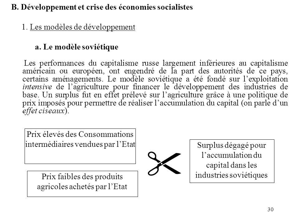  B. Développement et crise des économies socialistes