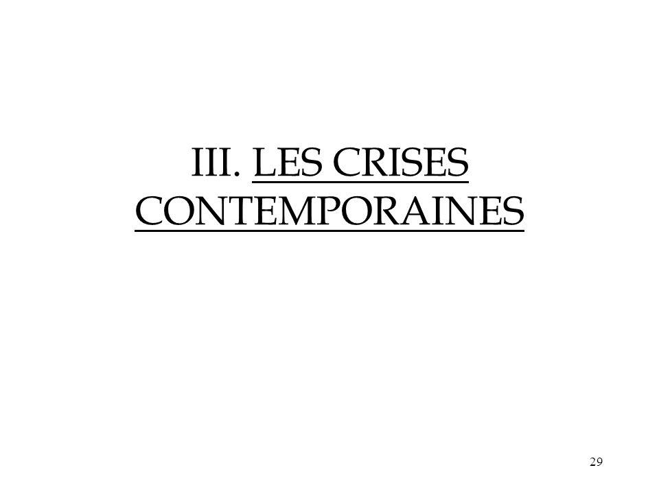 III. LES CRISES CONTEMPORAINES