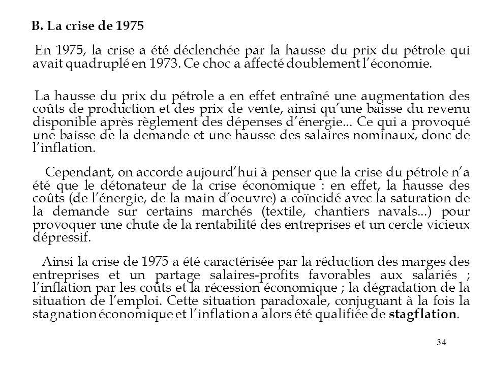 B. La crise de 1975