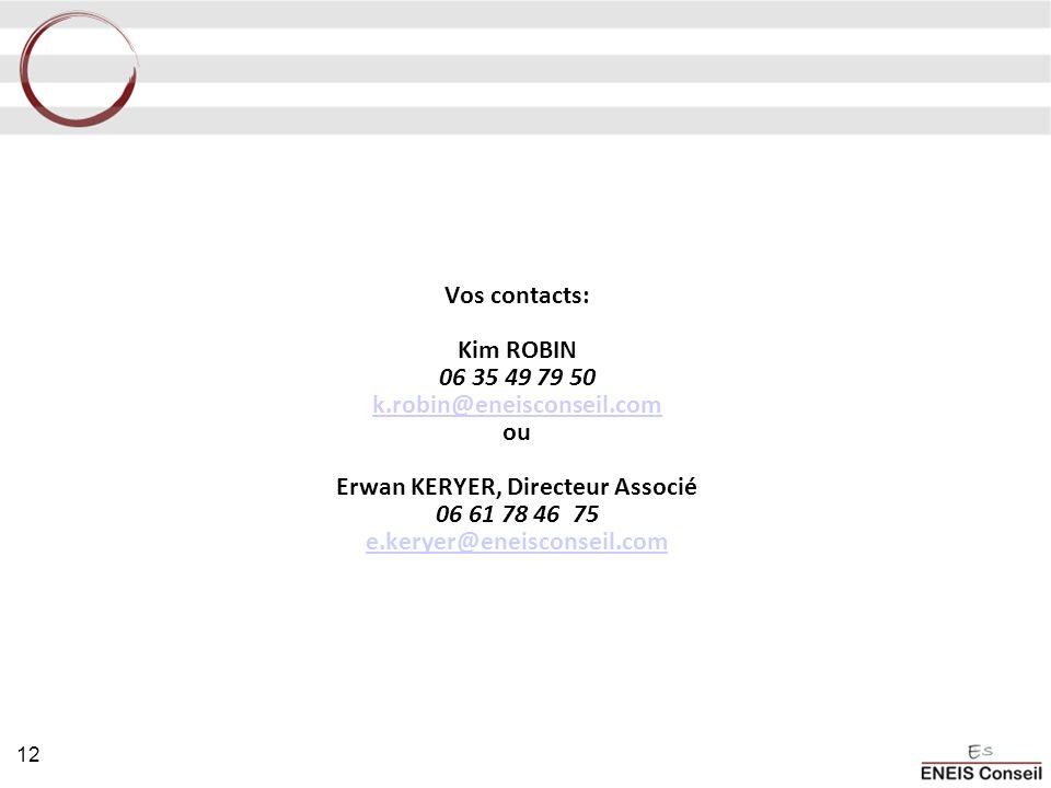Vos contacts: Kim ROBIN 06 35 49 79 50 k. robin@eneisconseil