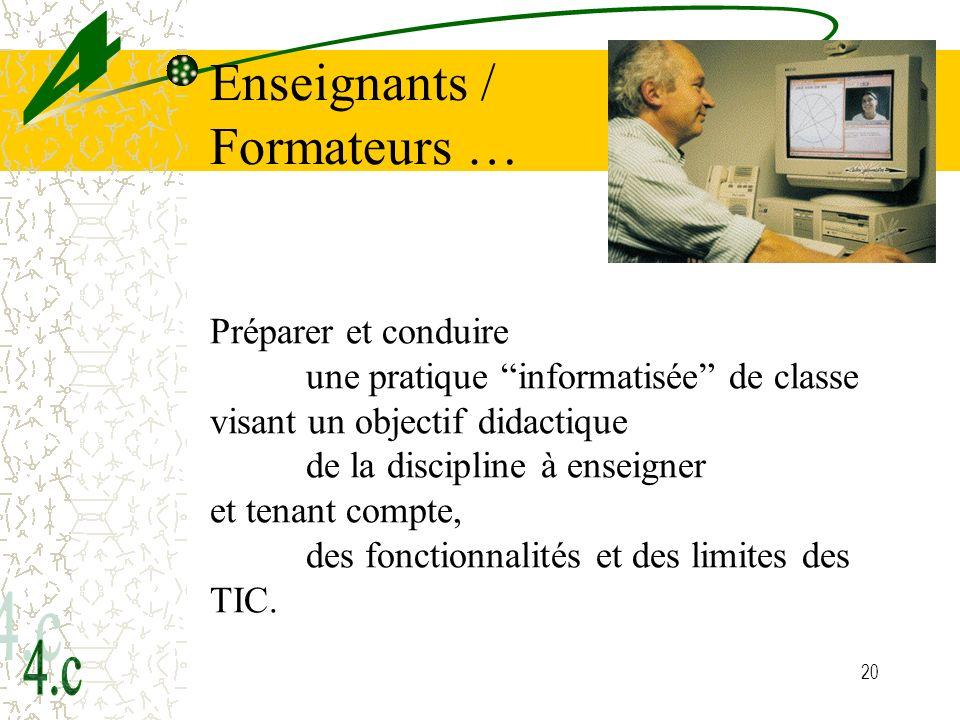 Enseignants / Formateurs …
