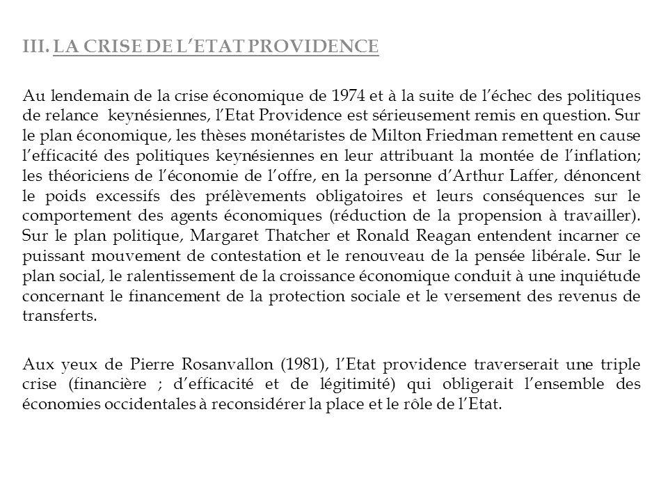 III. LA CRISE DE L'ETAT PROVIDENCE