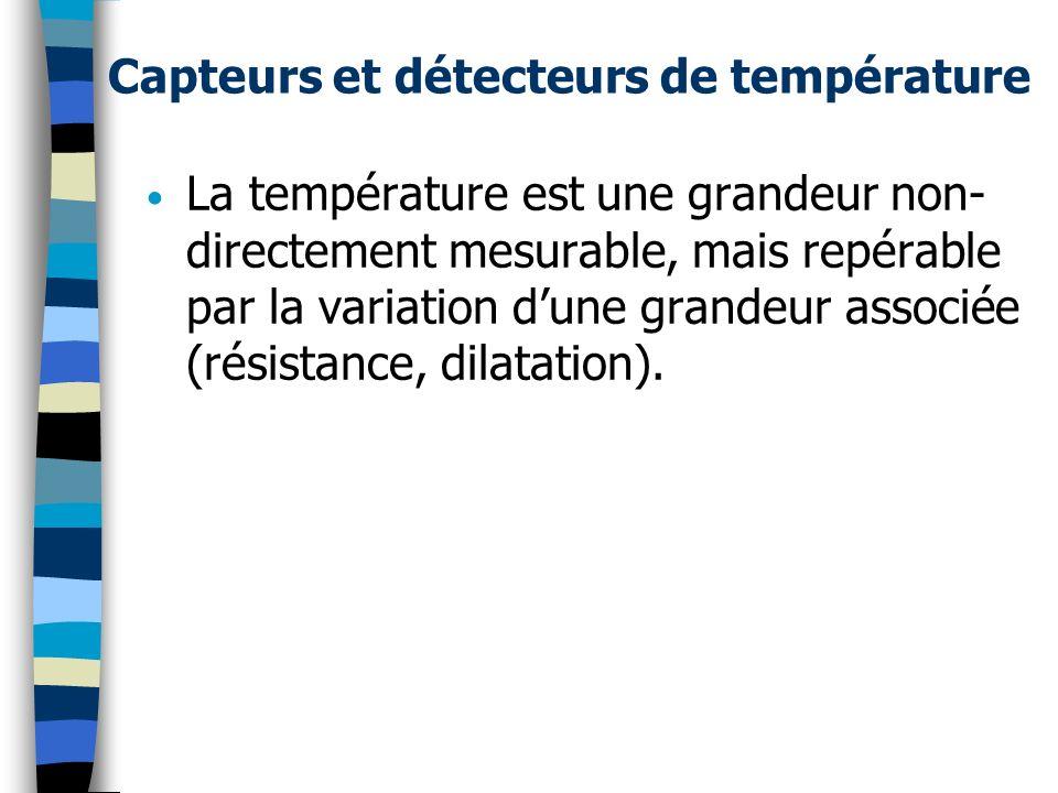 Capteurs et détecteurs de température