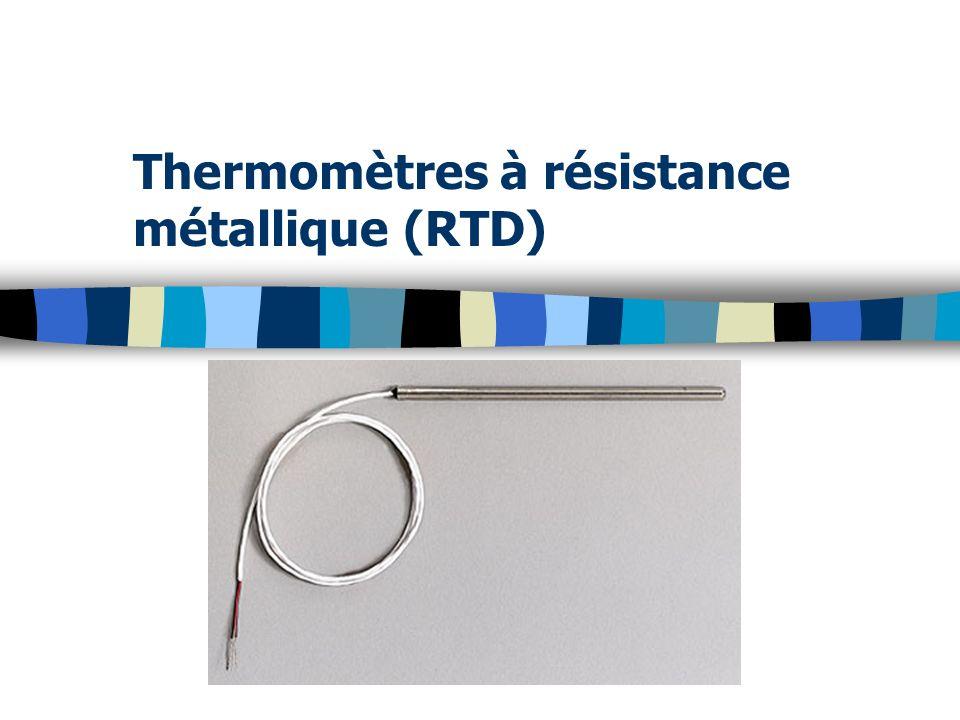 Thermomètres à résistance métallique (RTD)