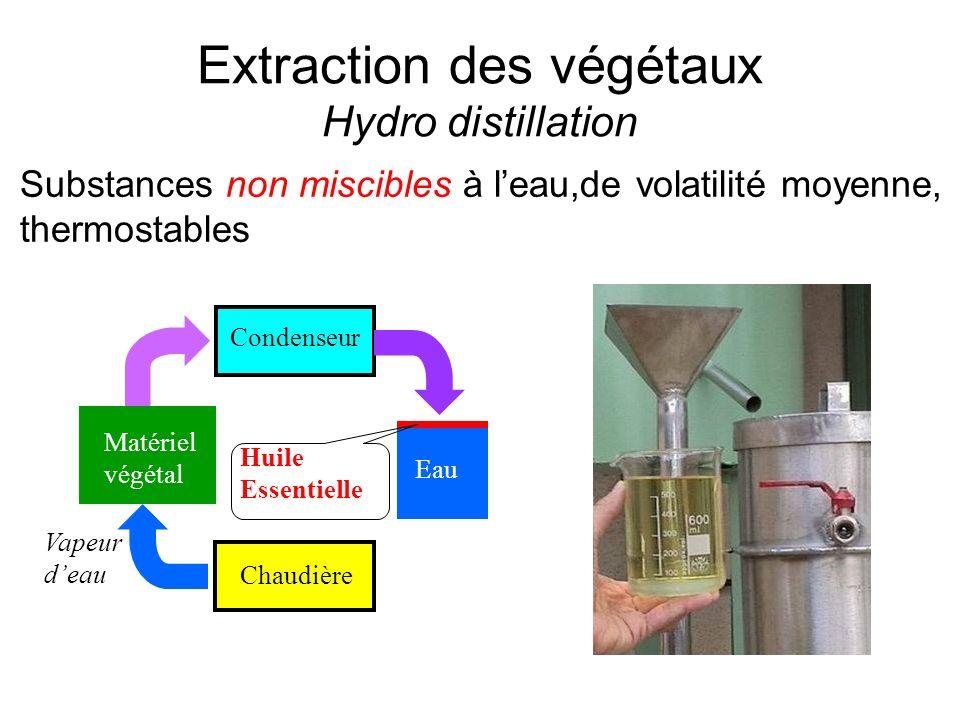 Extraction des végétaux Hydro distillation