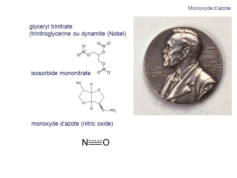 (trinitroglycerine ou dynamite (Nobel)