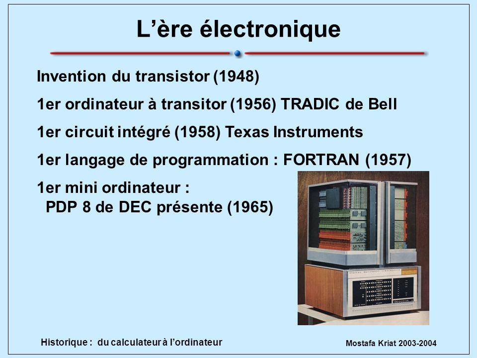 L'ère électronique Invention du transistor (1948)
