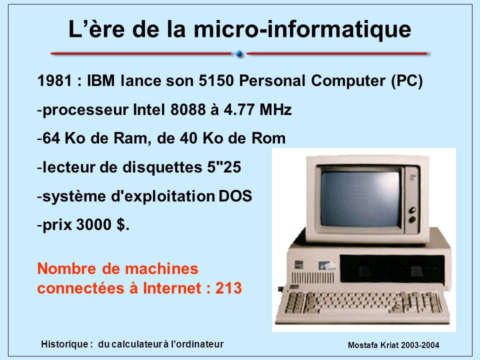 L'ère de la micro-informatique