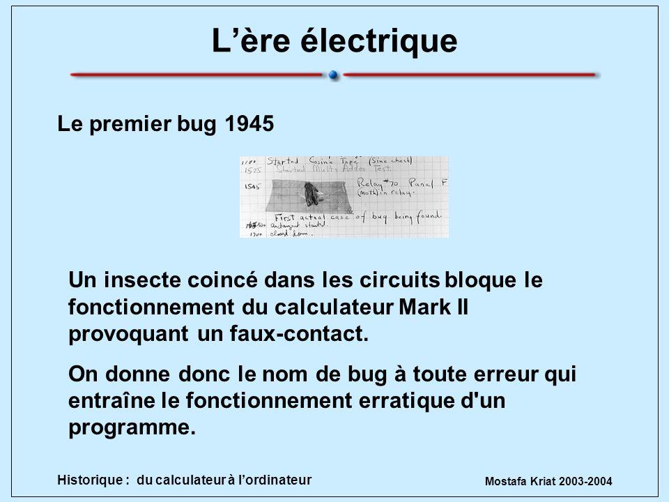 L'ère électrique Le premier bug 1945
