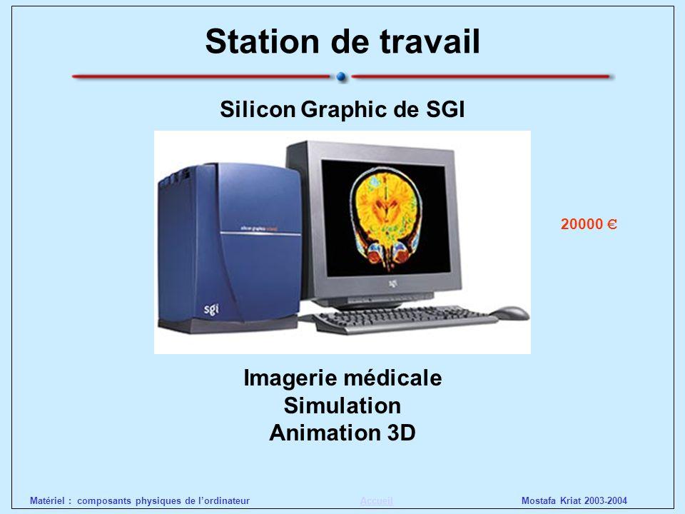 Station de travail Silicon Graphic de SGI Imagerie médicale Simulation