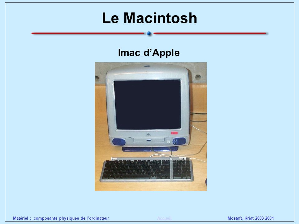 Le Macintosh Imac d'Apple