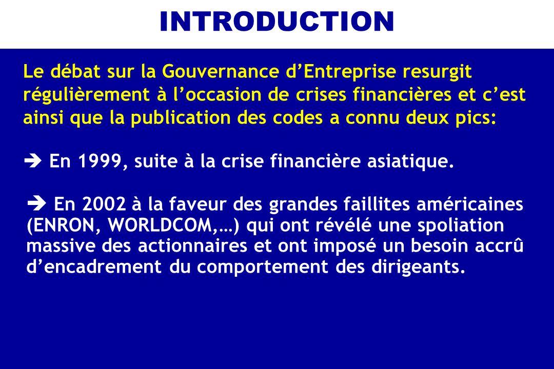 INTRODUCTION  En 1999, suite à la crise financière asiatique.