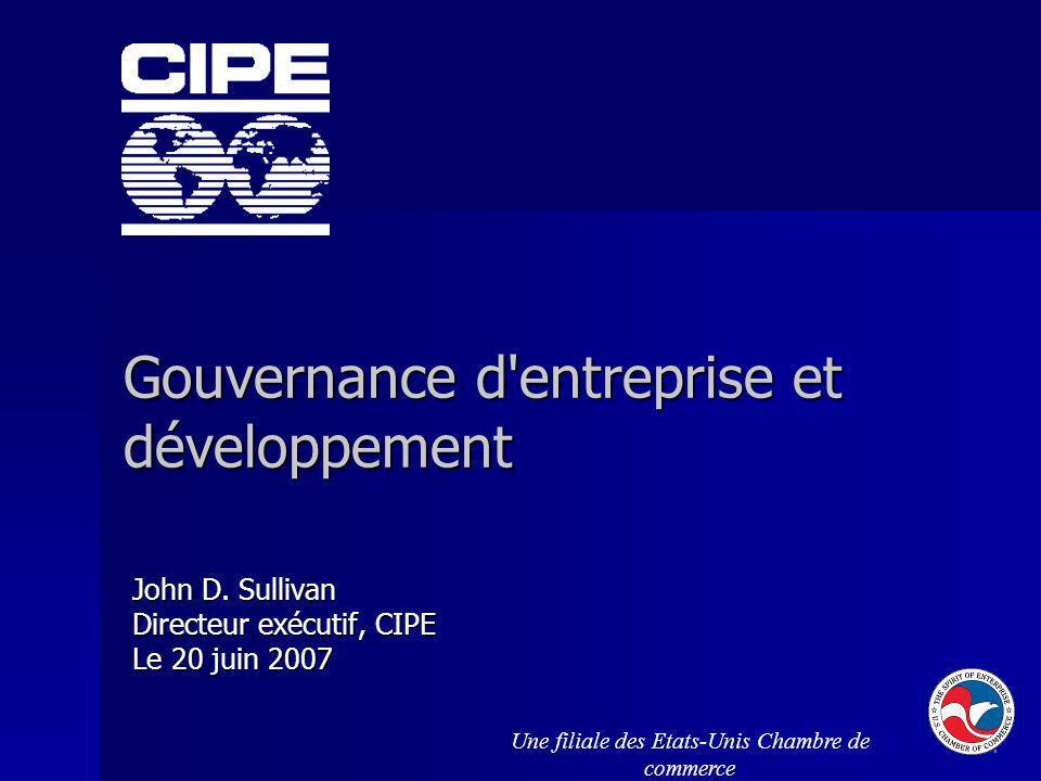 Gouvernance d entreprise et développement
