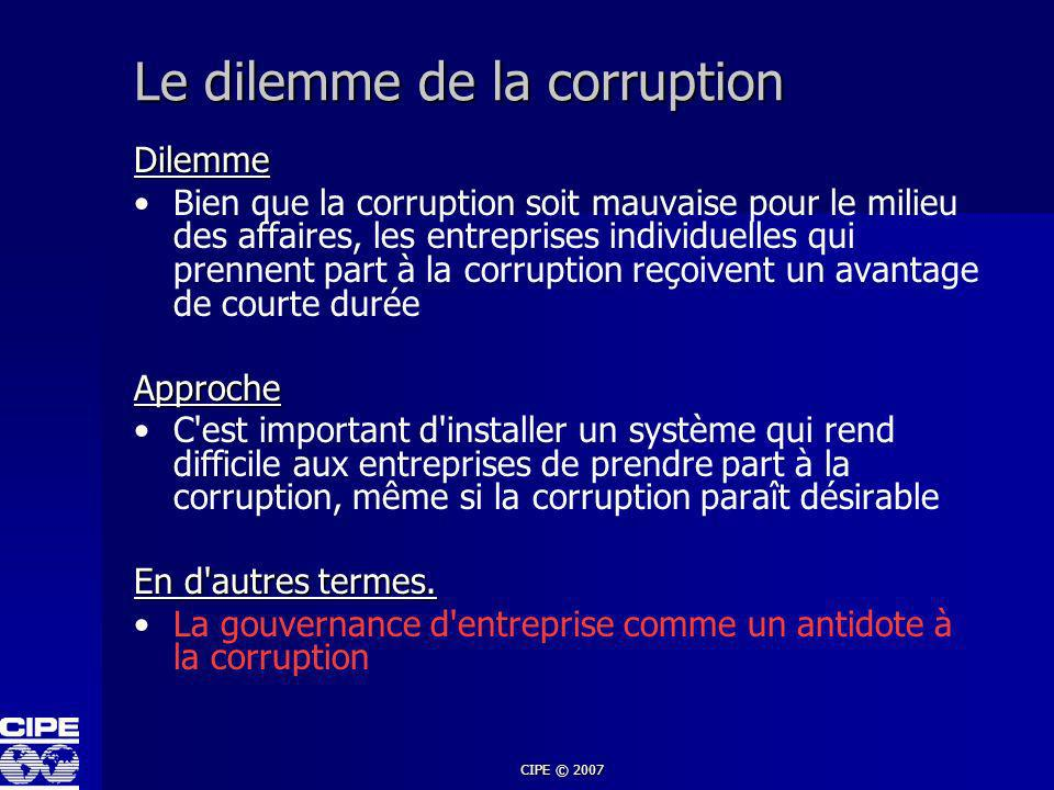 Le dilemme de la corruption