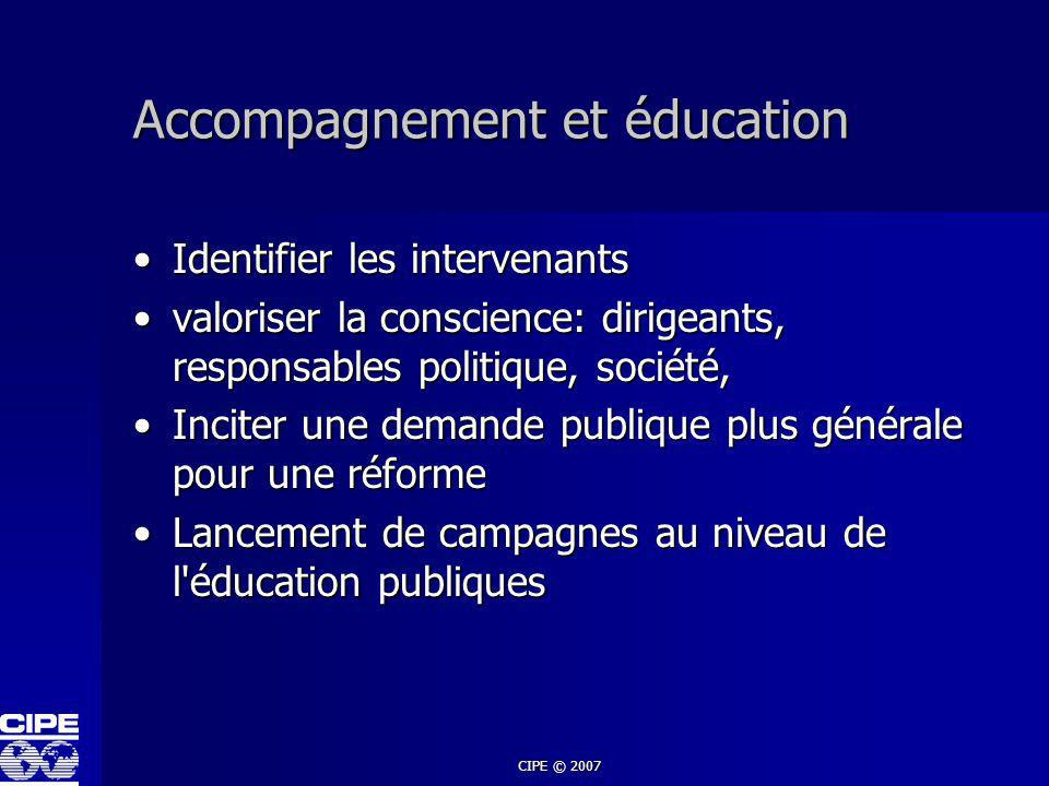 Accompagnement et éducation