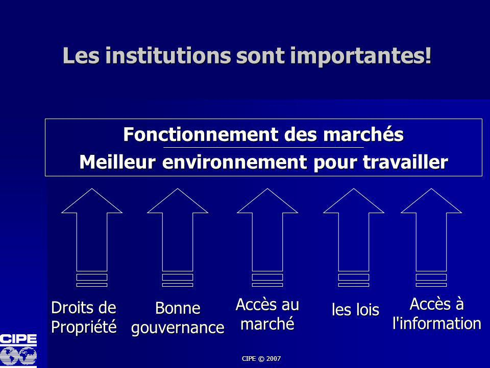 Les institutions sont importantes!