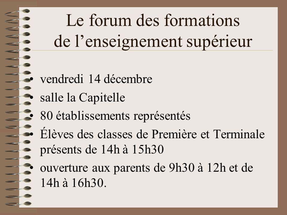 Le forum des formations de l'enseignement supérieur