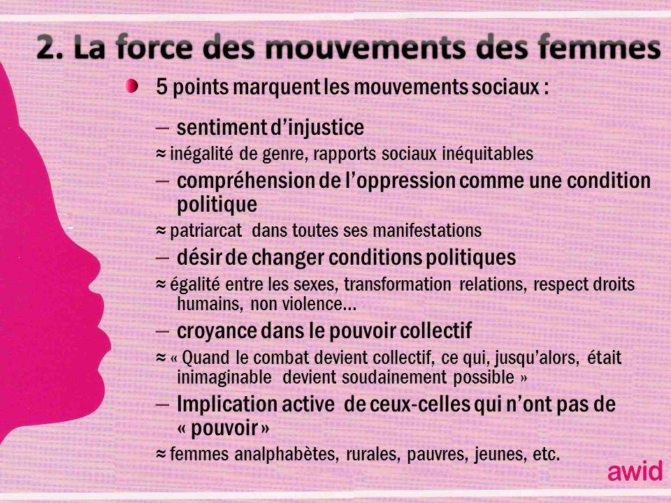 2. La force des mouvements des femmes