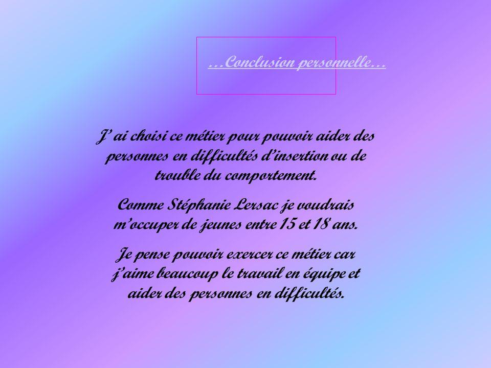 …Conclusion personnelle…