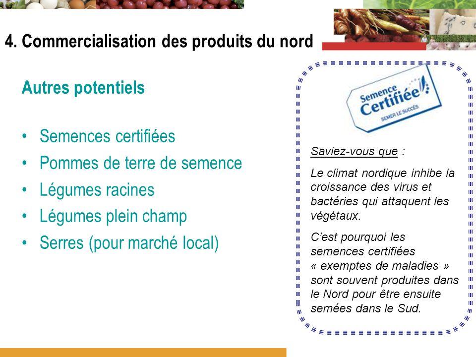 4. Commercialisation des produits du nord