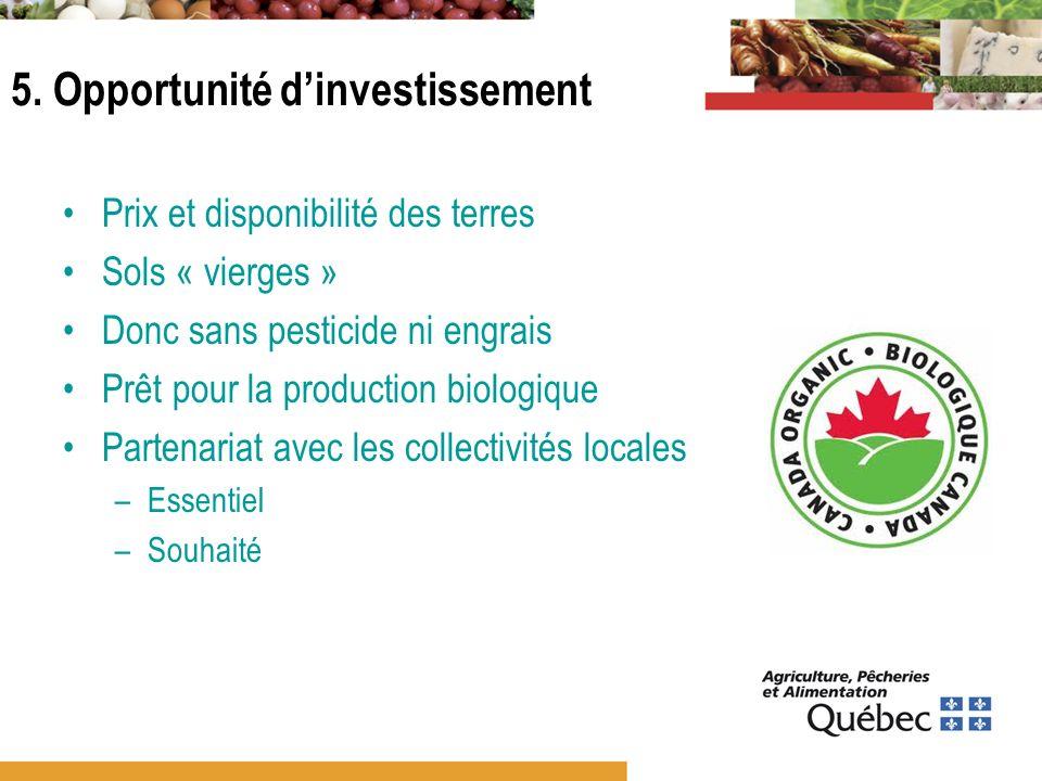 5. Opportunité d'investissement
