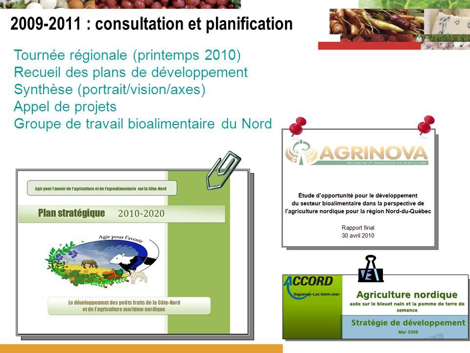 2009-2011 : consultation et planification