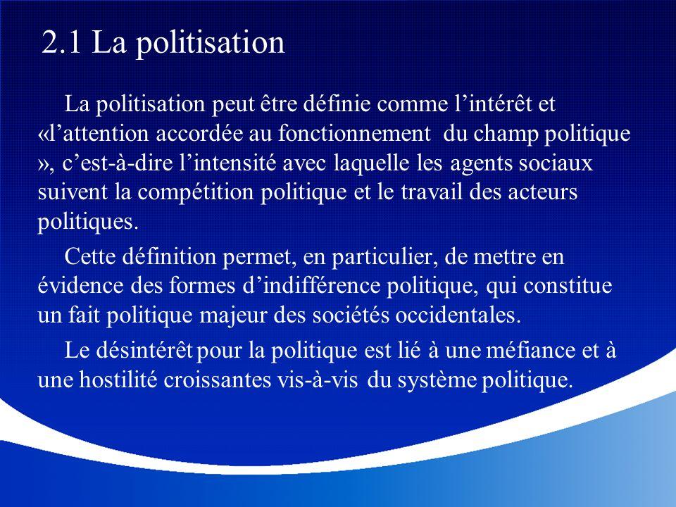 2.1 La politisation