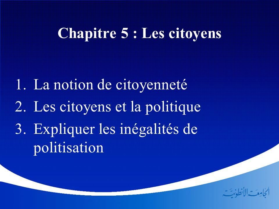 Chapitre 5 : Les citoyens