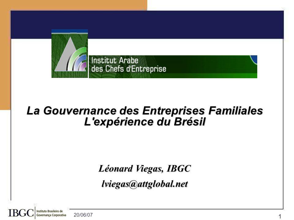 La Gouvernance des Entreprises Familiales L expérience du Brésil