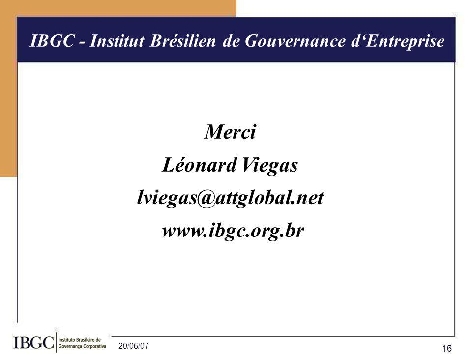 IBGC - Institut Brésilien de Gouvernance d'Entreprise