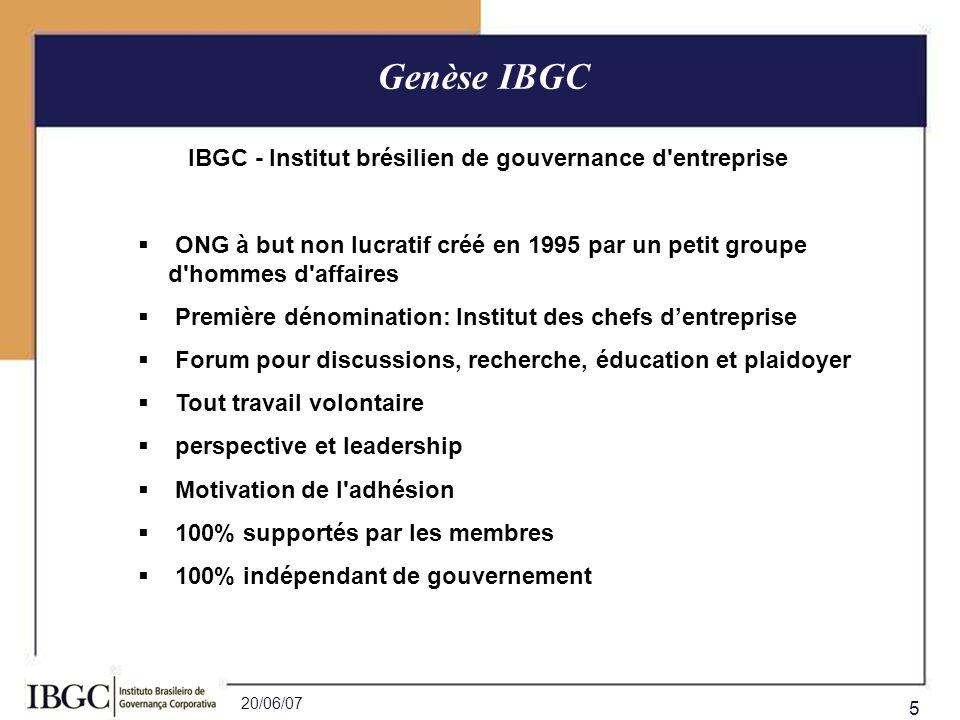 IBGC - Institut brésilien de gouvernance d entreprise