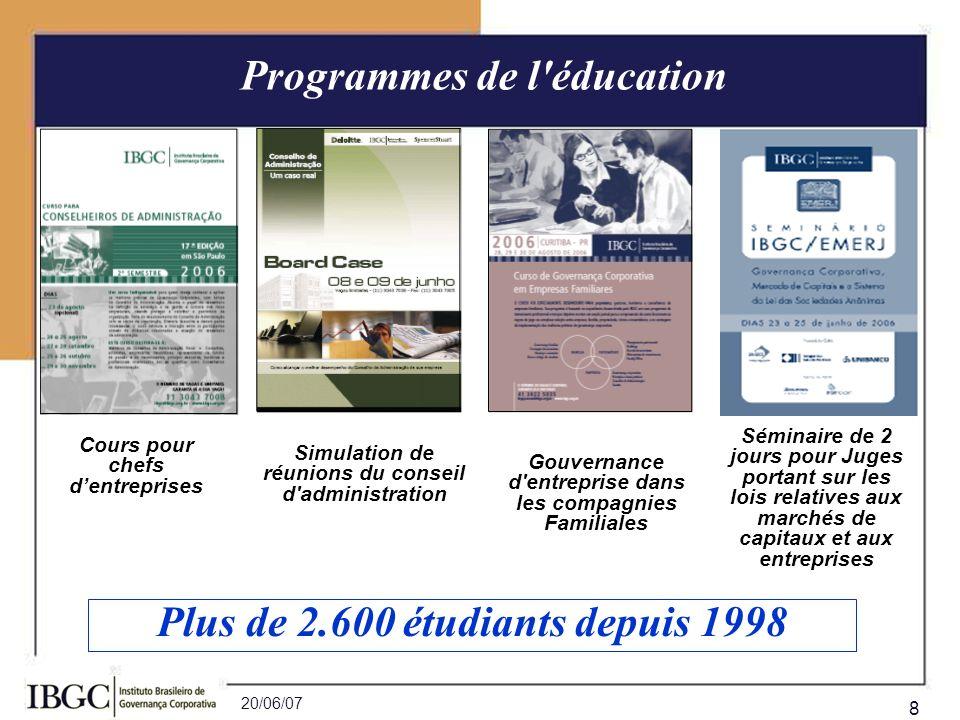 Programmes de l éducation