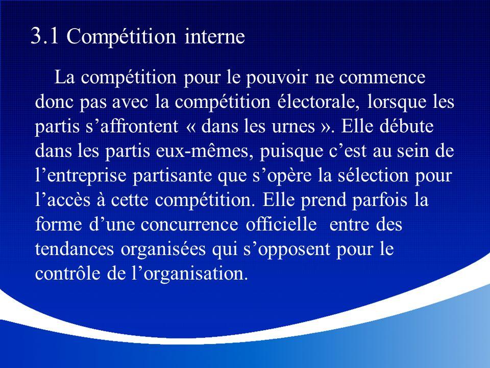 3.1 Compétition interne