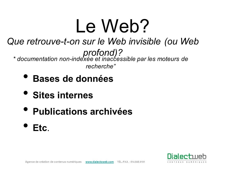 Que retrouve-t-on sur le Web invisible (ou Web profond)