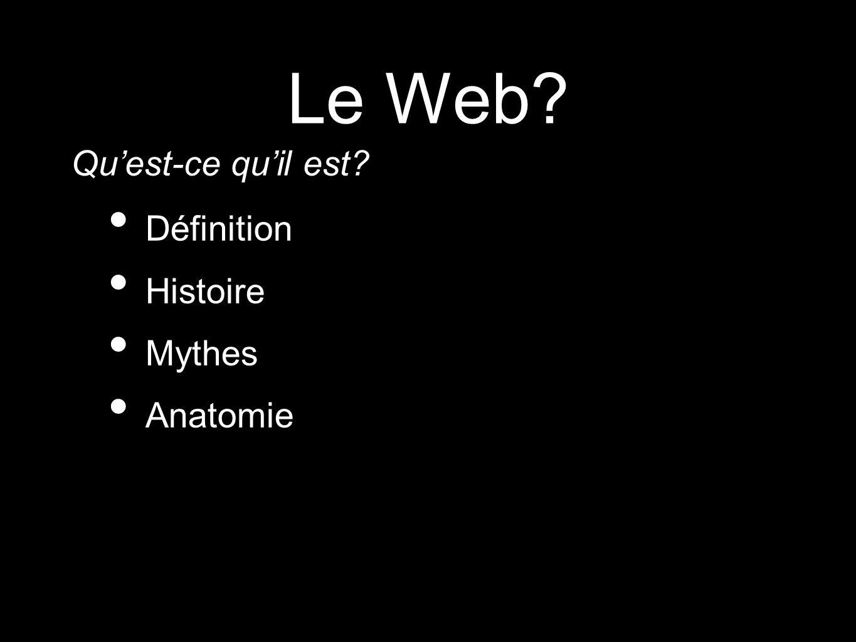 Le Web Qu'est-ce qu'il est Définition Histoire Mythes Anatomie