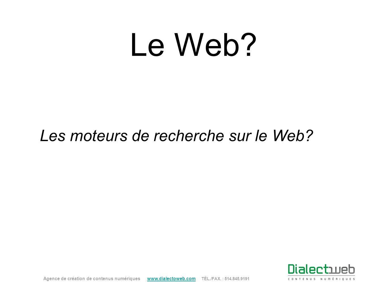 Les moteurs de recherche sur le Web