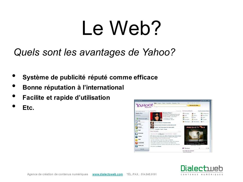 Quels sont les avantages de Yahoo