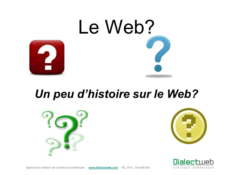 Un peu d'histoire sur le Web