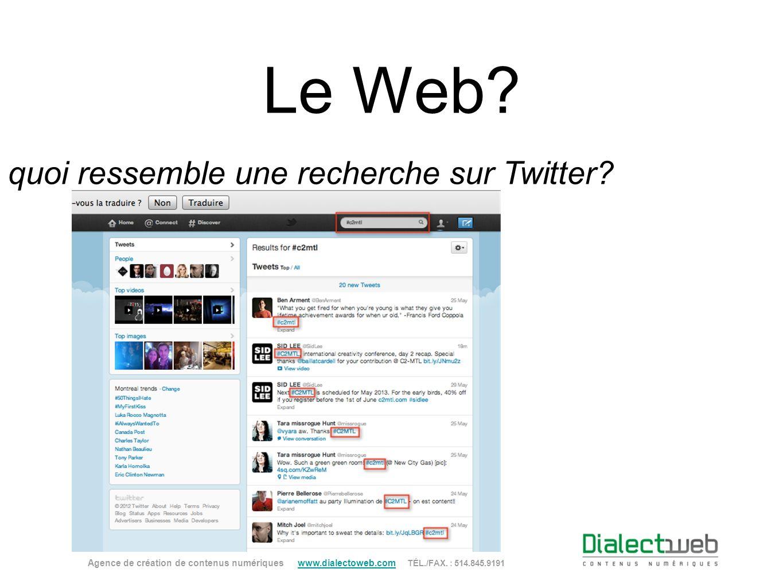 À quoi ressemble une recherche sur Twitter