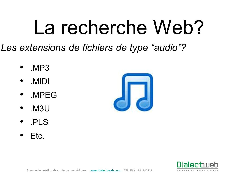 Les extensions de fichiers de type audio